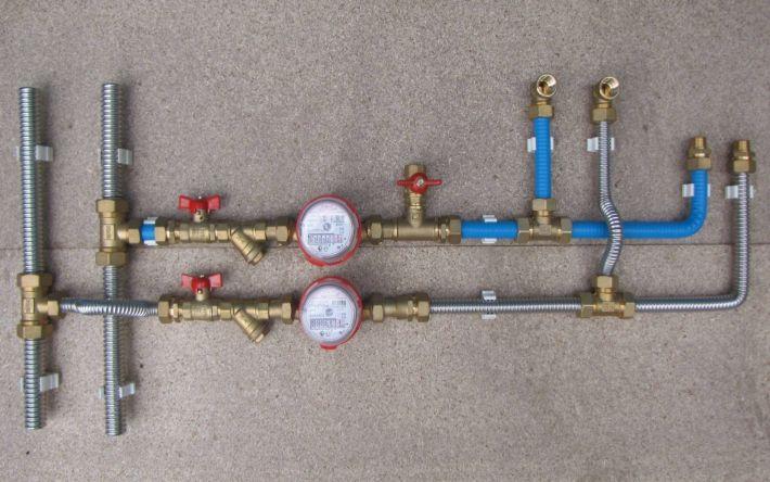 Установка счетчика воды в