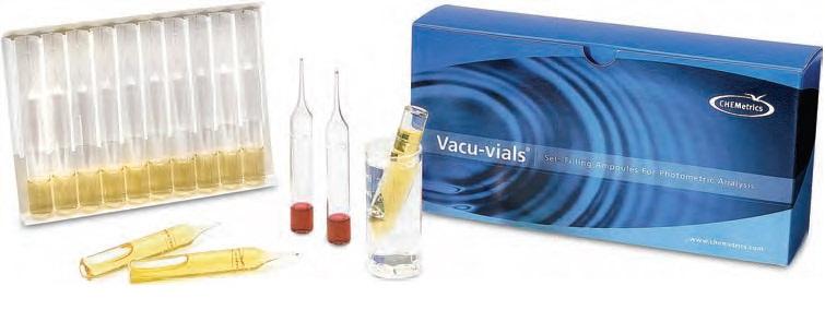 Komplekt dlja vypolnenija instrumental'no-kolorimetricheskogo analiza po metodu Vacu-vials